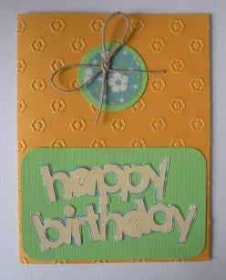 Easy to Make Handmade Birthday Card featuring twine with your Cricut Machine