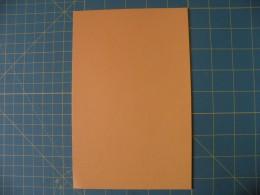 Light Orange cardstock before folding
