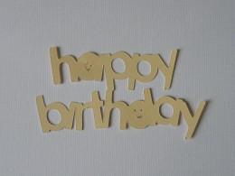 Happy Birthday top layer
