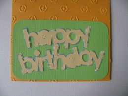 Layers adhered to card