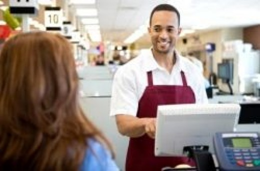 Being a cashier is one example of side income
