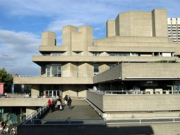 The Royal National Theatre, part of the South Bank arts scene
