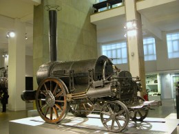 George Stephenson's Rocket steam engine at the Science Museum