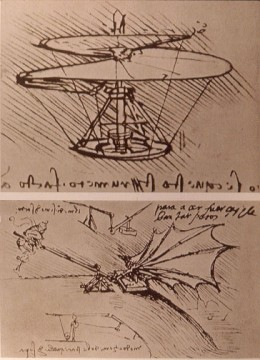 Some of his flying machines