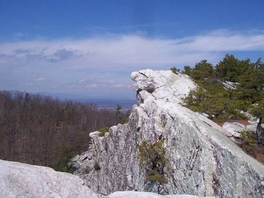 A cliff face on Minnewaska, like the one where Willa was nearly trapped.