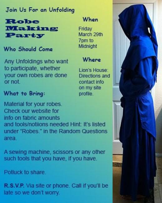 Robe Making Party Invitations