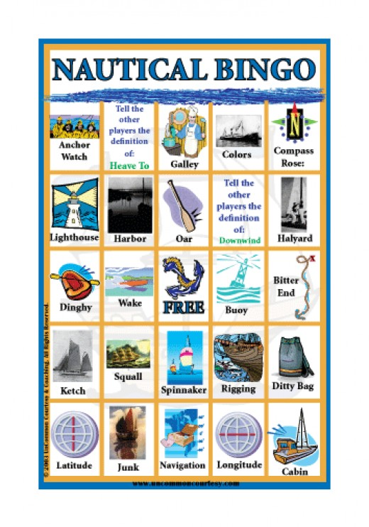 Nautical  (boat) Bingo