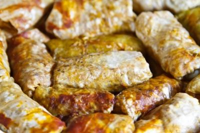 Slow cooked stuffed cabbage