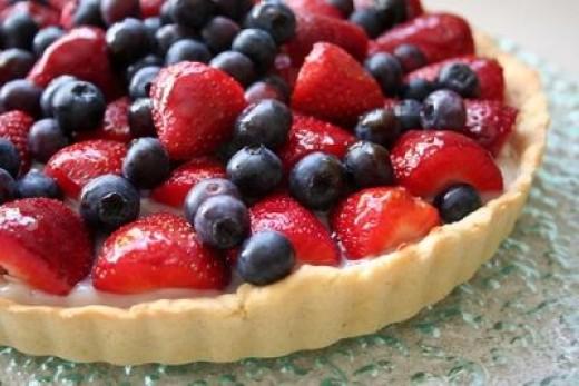 Vegetarian fruit tart