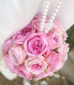 pink rose pomander