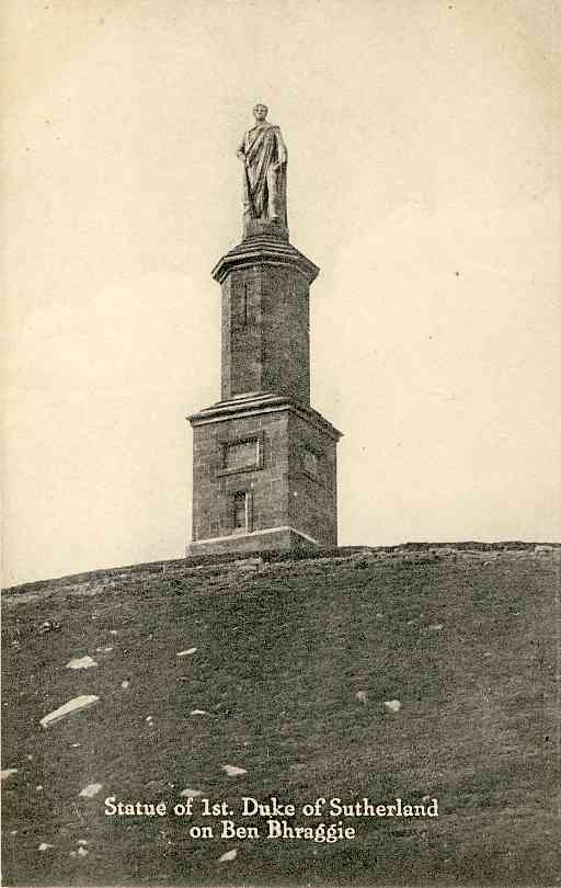 The monument to the First Duke of Sutherland