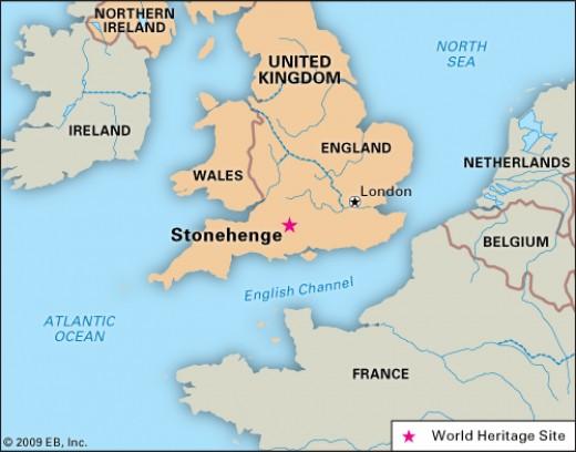 Stonehenge on a map