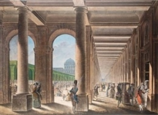 Galeries du Bois du Palais Royal in the 18th Century (artchitecture.skynetblogs.be)