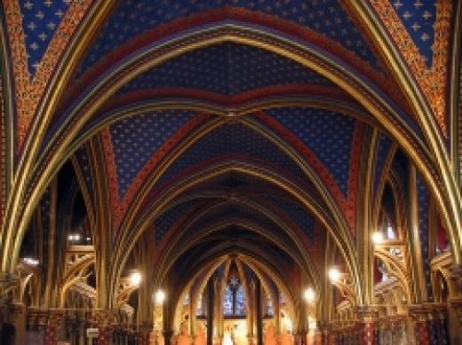 Lower Chapel of Sainte Chapelle (Sacred-Destinations.com)