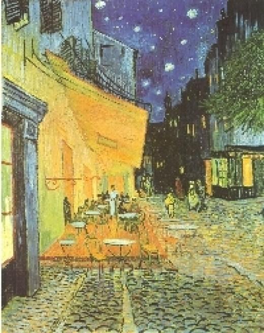 Van Gogh, Cafe Terrace at Night 1888 (wetcanvas.com)