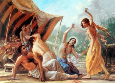 Jagai and Madhai Rescued by Nityananda