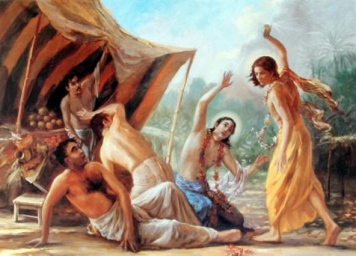 Jagai and Madhai Rescued by Nityananda