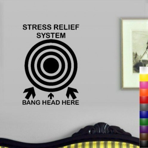 Humorous Wall Decal for Stress Release