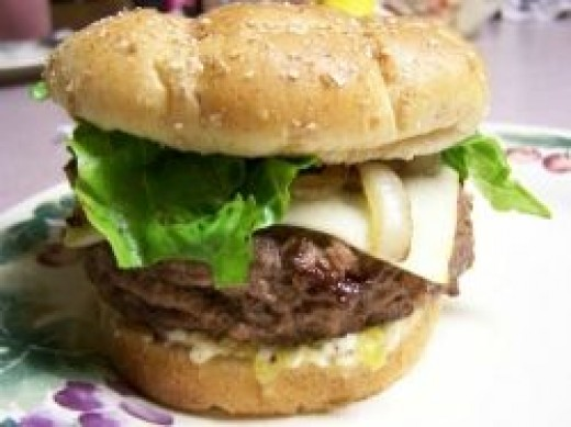 Cook up you favorite burger on a hot plate