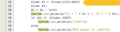 Figure 03 - Nefarious floating point precision problem in a simple code snippet