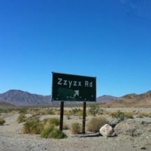 Zzyxx Road Sign