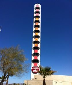 Wolrds Tallest Thermometer in Baker, CA