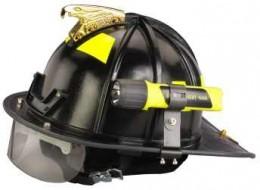 Streamlight mounted to side of helmet