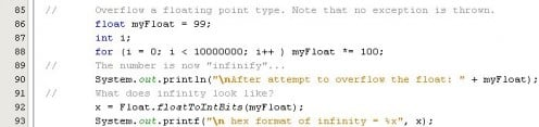 Figure 05 - Force a floating point number to infinity
