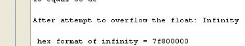 Figure 06 - Output of the code in Figure 05: to infinity and beyond.