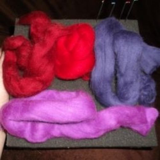 Merino wool yarn carded fibres