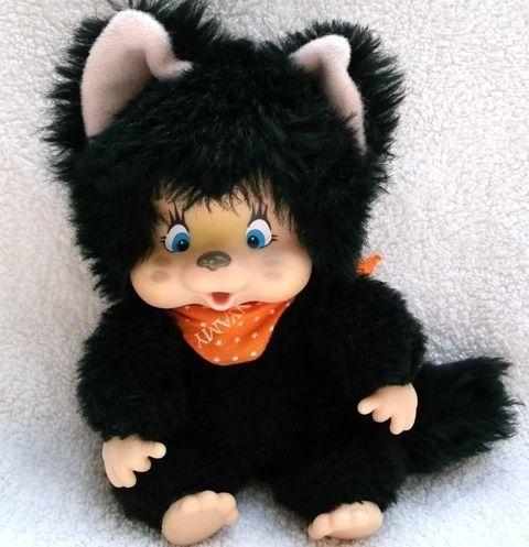 Black Felina Nyamy Monchichi