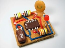 Make something tasty. This circuit board snack makes a good way to show your friends how much you like electronics; They will too.