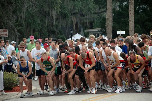 Starting Line - Getting ready to go.