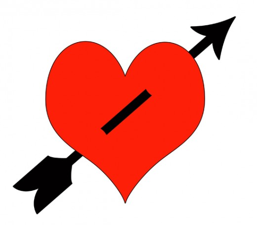 Arrow Through Red Heart Clip Art