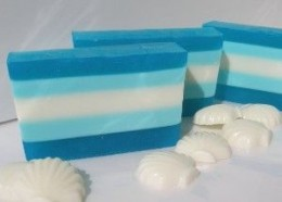 Beautifully Layered Soap. You can read the review or purchase this soap at http://www.kaboodle.com/reviews/handmade-soap-tropical-vacation--glycerin-soap-layered-soap