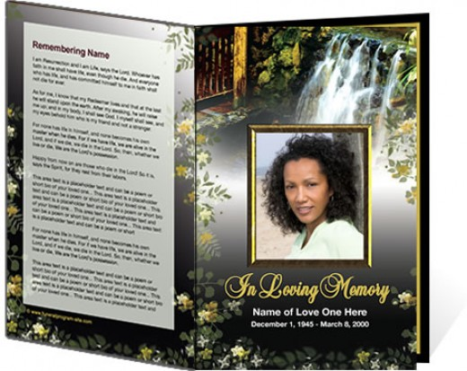 Doc700539 Free Printable Funeral Programs Templates 31 – Free Printable Obituary Program Template