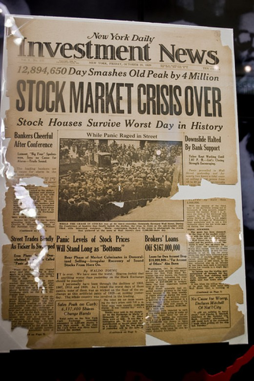 New York Daily Investment News V. 1 No. 137 Friday, October 25, 1929 Photo used under Creative Commons Attribution License