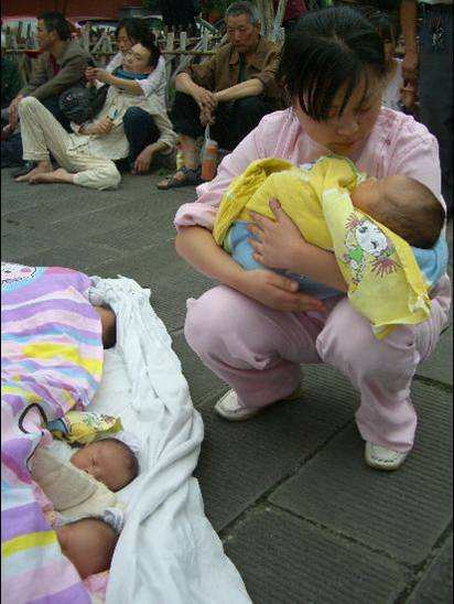 Babies were delivered in carparks when women went into premature labour and hospitals collapsed.
