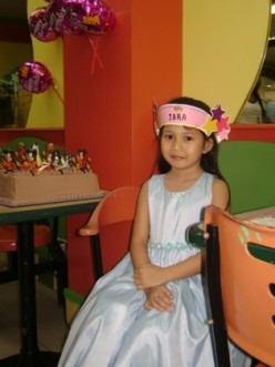 Zara, during her 7th birthday
