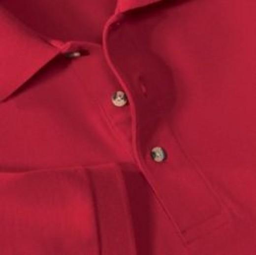 Polo shirt placket