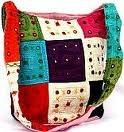 Mirror work bag in multicolor.