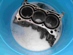 Degreasing my engine block with pine-sol