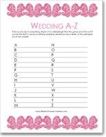 Free Weddings A-Z Game