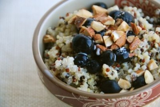 Blueberries Quinoa Breakfast