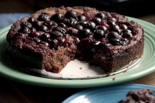 Flourless Chocolate Cherry Quinoa Cake