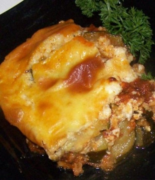 Potatoes and cheese moussaka