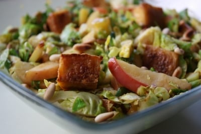 Brussel Sprouts with Apples and Pinenuts