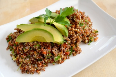 Gluten free vegan quinoa tabbouleh