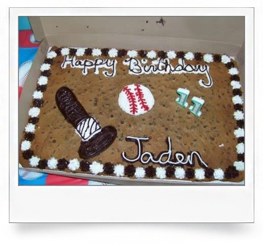 Cake and birthdays go together like baseball and...dildos?