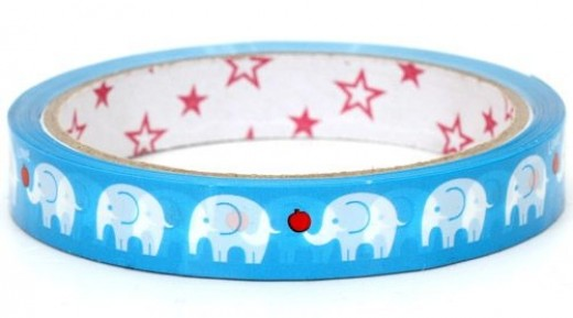cute-blue-elephants-Deco-Tape-with-apple